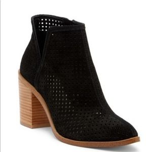 1. State parochial suede booties